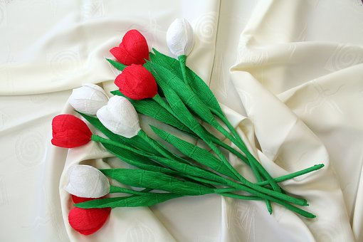 Flowers, Decoration, White - Red, 11 Nov