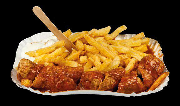Currywurst, Fast Food, Nutrition, French, Food, Frits