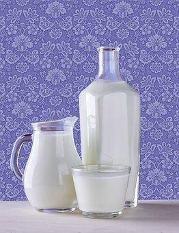 Milk, Bottle, Jug, Glass, Glass Milk, Bottle Milk