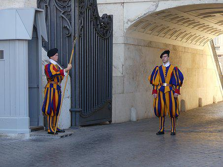 Swiss Guard, Guards, Italy, Vatican, Catholic