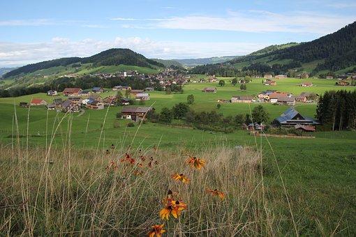 Austria, Mountains, Green, Landscape, Sky, Alpine