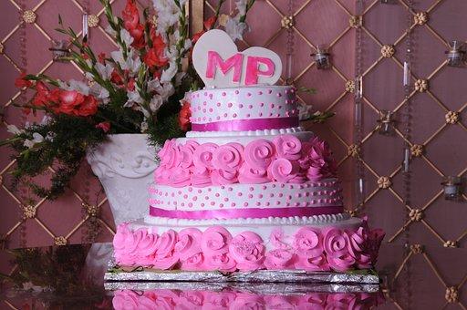 Wedding, Wedding Cake, Cake, Pink Cake, Marrage Cake
