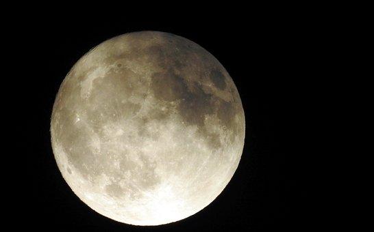 Moon, Moonlight, Full Moon, Night Sky, Sky