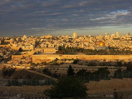 Jerusalem, Israel, Morgenstimmung, Dome Of The Rock