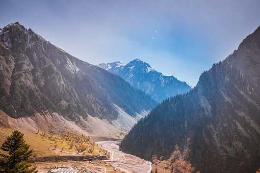 Mountains, Autumn, Colourful Sky, Colors
