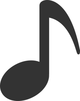 Musical, Note, Eighth, Black, Symbol, Music, Tune