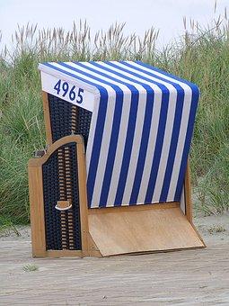 Beach Chair, North Sea, Beach, Clubs, Sea, Holiday