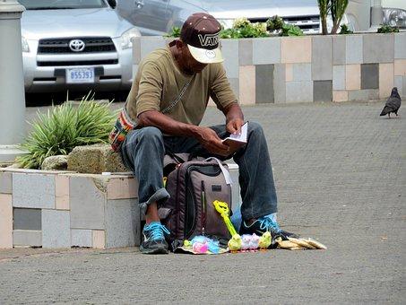 Man, Poverty, City, Park, Solitude, Person, Roaming