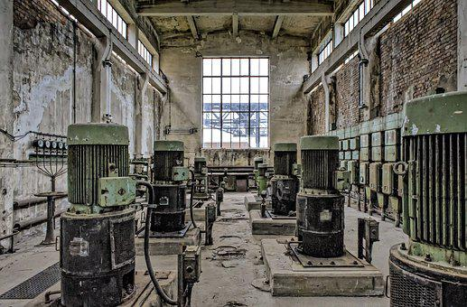 Power Plant, Industrial Plant, Technology, Lapsed, Old