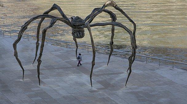 Sculpture, Spider, Bilbao, Guggenheim Museum, Insect