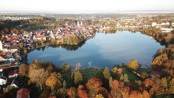 Stadtsee, Autumn, Lake, Bad Waldsee