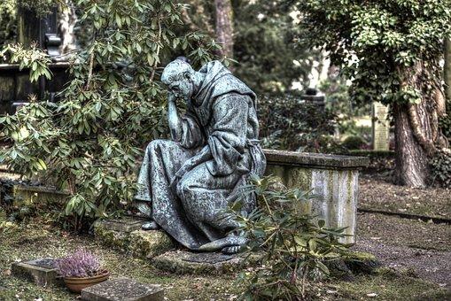 Cemetery, Monk, Statue, Rest, Spiritual, Architecture