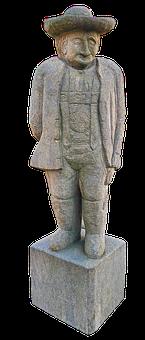 Bauer, Stone Figure, Sculpture, Stone Statue, Figure