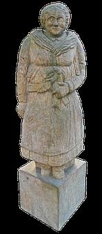 Farmer's Wife, Stone Figure, Sculpture, Stone Statue