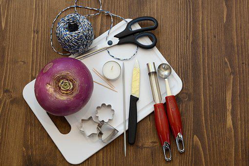 Räbe, Autumn Beet, Räbenlicht, Carve, Utensils