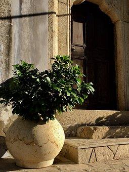 Antique, Vase, Door