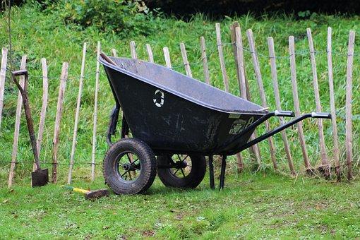 Wheel Barrow, Gardening, Garden, Barrow, Wheelbarrow