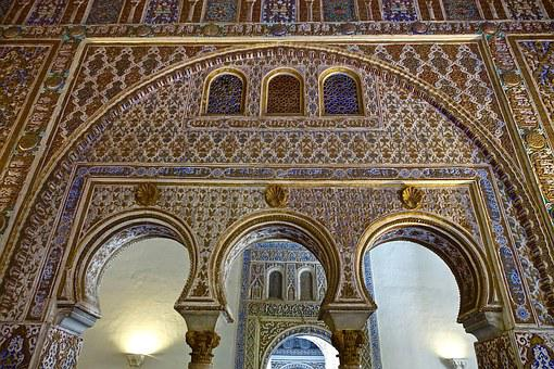Arches, Cathedral, Ornamental, Design, Arabic