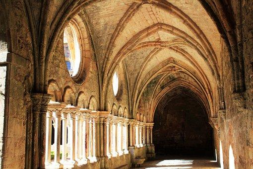 Nave, Arches, Cloister, Corridor, Stone Arch, Alcove