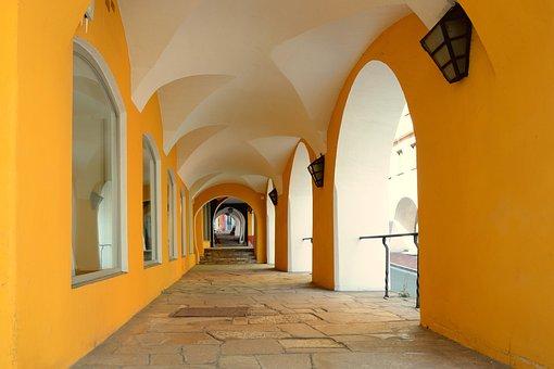 Archway, Cross Vault, Vault, Architecture, Gang