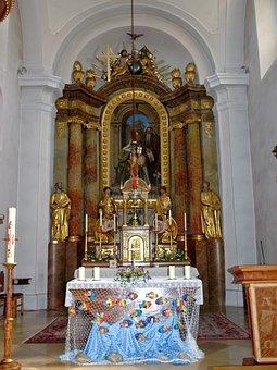 Blindenmarkt, Hl Anna, Church, Altar, Austria, Interior