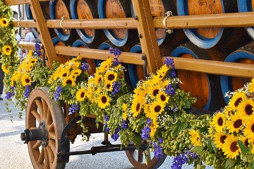 Beer Car, Barrels, Beer, Barrel Coach, Pageant