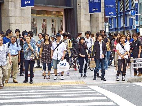 Japan, Tokyo, Shinjuku, People, Urban, Building, Road