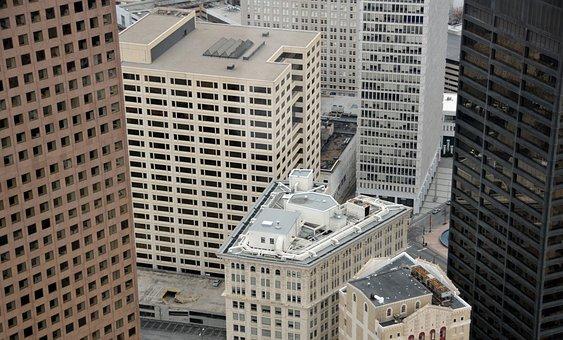 Aerial View, City, Atlanta, Georgia, Buildings