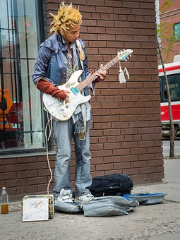 Musician, Guitar Player, Guitar, Busking
