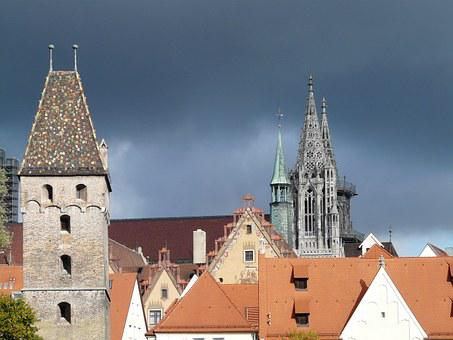 Metzgerturm, Ulm, City View, City, Houses, Building