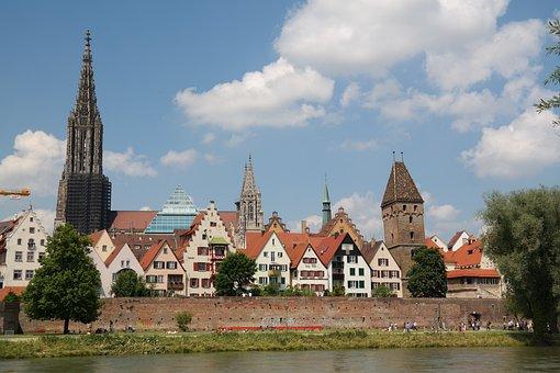 Ulm, Danube, City View, Ulm Cathedral, Münster