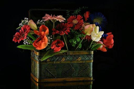 Rose, Tulips, Color, Bouquet, Flowers, Vase, Flower