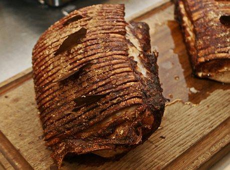 Pork Roast, Rose, Severe, Crisp, Crunches, Bay Leaves