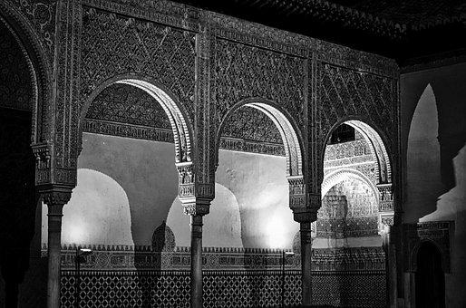 Alhambra, Arches, Palace, Pattern, Decoration, Spanish