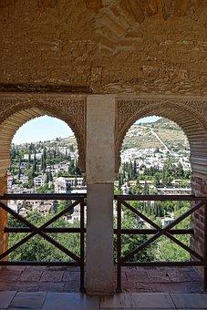 Alhambra, Windows, Arches, Moorish, Decoration