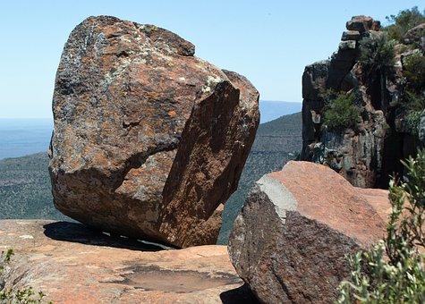 Rock, Dolerite Rock, Balanced Boulder, Landscape