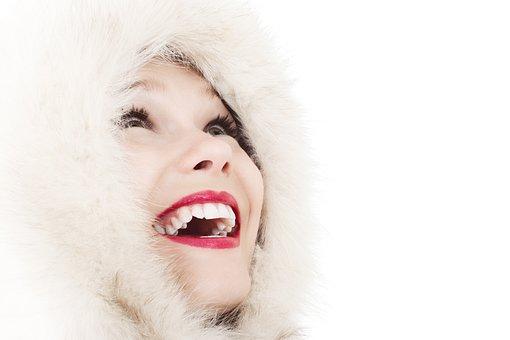 Fun, Cold, Elegance, Face, Fashion, Female, Girl, Smile