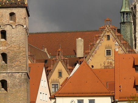 Gable, Roofs, Homes, Facades, Old Town, Ulm