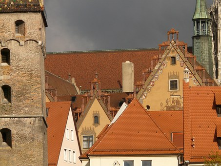 Gable, Roofs, Houses, Facades, Historic Center, Ulm