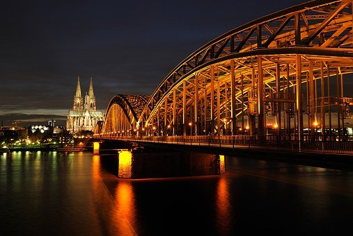 Cologne, Dom, Night, Architecture, Landmark, Imposing