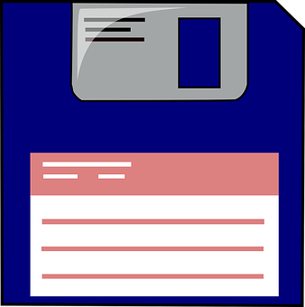 Floppy Disc, Data Storage, Label, Information Backup