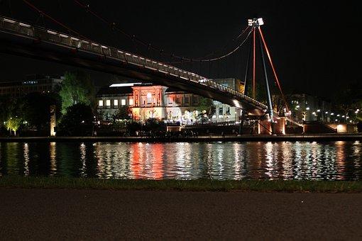 Main, Frankfurt, Staedel, Bridge, Pedestrian Bridge