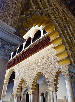 Arches, Cathedral, Spanish, Ornamental, Design, Arabic