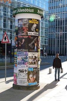 Advertising Pillar, Posters, Advertising