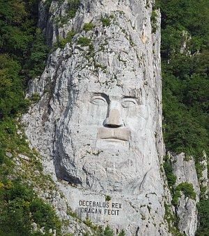 Face, Stone, King Decebalus, Relief, Rock, Romania