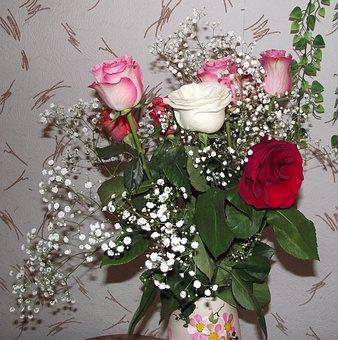 Bouquet, Roses, Bouquet Of Roses, Beautiful Flowers