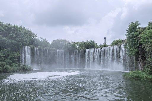 Film, Falls, Shenzhen, China, Photography