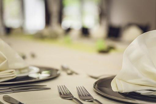 Plate, Cover, Restaurant, Table, Fork, Eat, Board