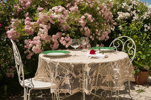 Table, Summer, Invitation, Tablecloth, Relaxation