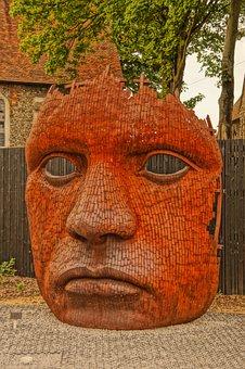 Marlowe, Theatre, Canterbury, Face, Sculpture, 3-d